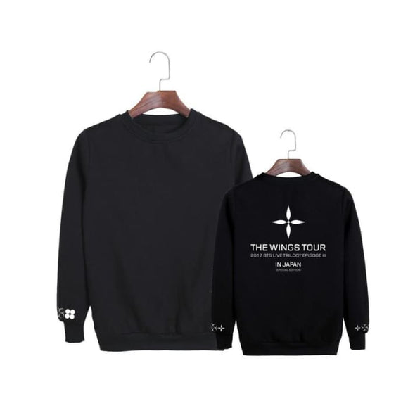 Bts The Wings Tour Japan Classic Sweatshirt - Black / S - Sweatshirt