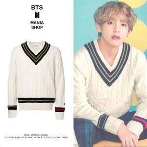 Bts V V-Neck Wind Bottoming Sweater - S - Bangtan Fashion