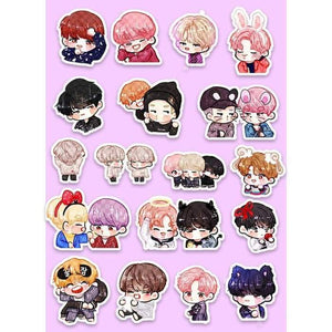 Bts Wings Cartoon Ver Stickers - Stickers