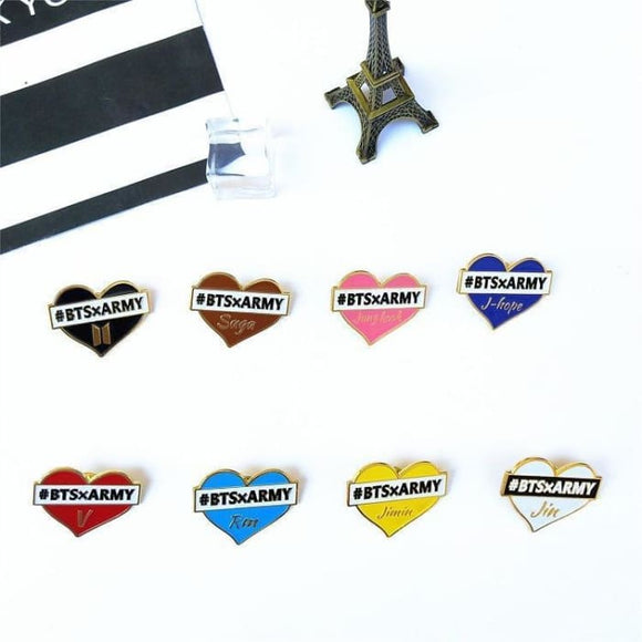 Bts X Army Brooch Badges - All 8 (Saved 30% Off) - Accessories