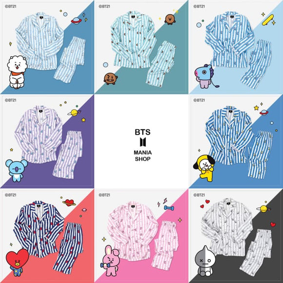 Bts X Bt21 Line Friends Pajamas - Bangtan Fashion