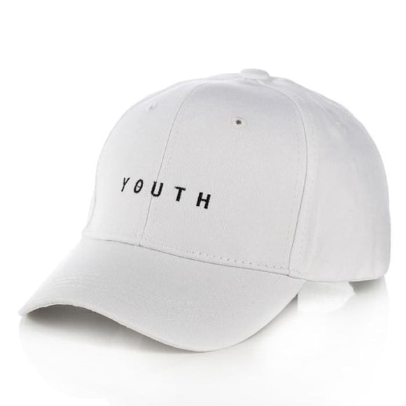 Bts Youth Classic Cap - Letter Style White - Hats