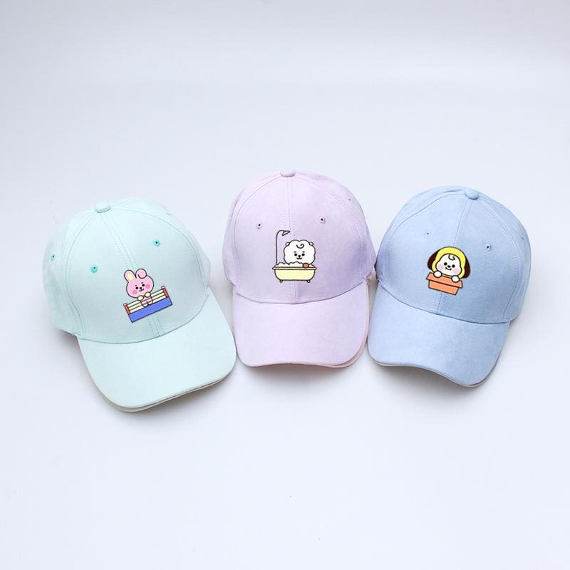 BTS BT21 Character Cute Color Cap
