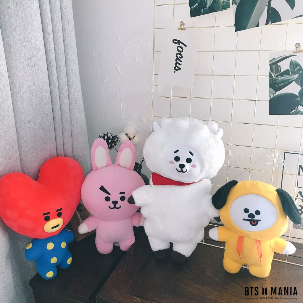 a group of stuffed animals