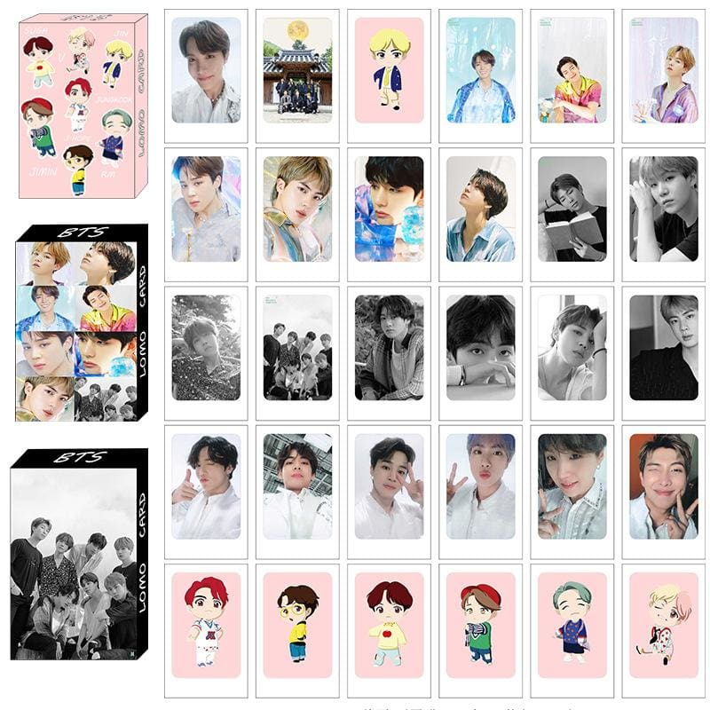 BTS Mini Doll Figure Combination Lomo Card
