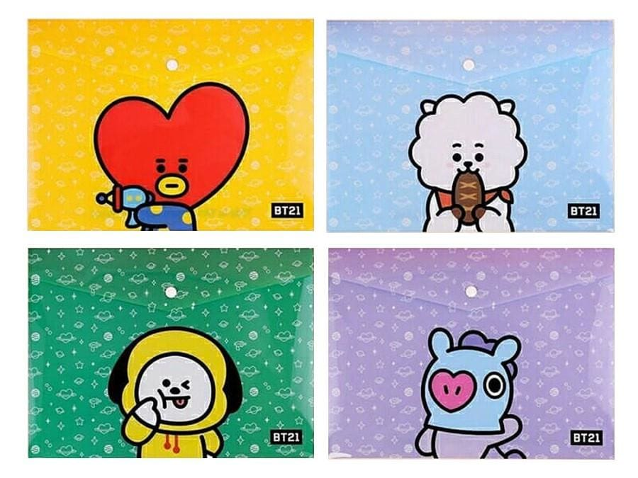 BTS BT21 Design Envelope Folder