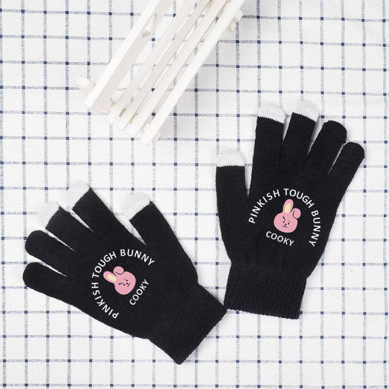 BTS BT21 Wool Winter Gloves