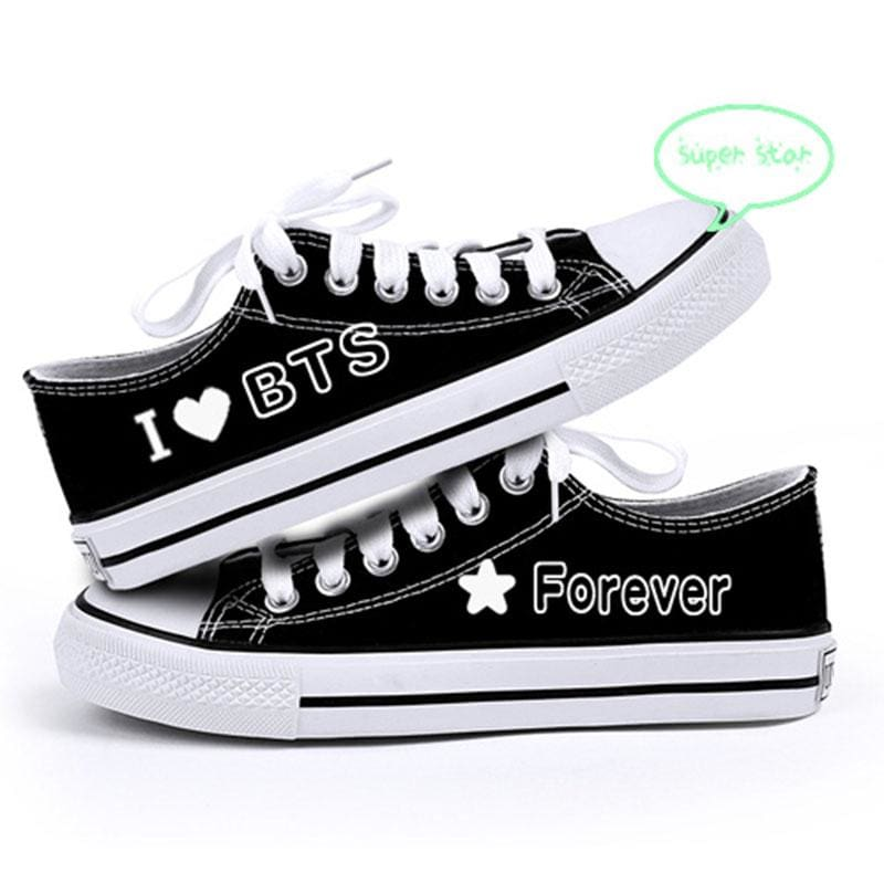 BTS I Love BTS Forever Low-Top Canvas Shoes