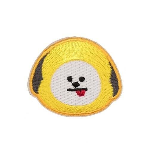 BTS BT21 Face Embroidery Patch Sticker