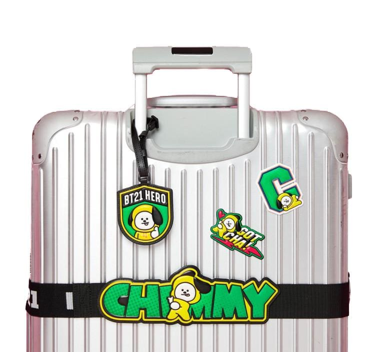a close up of a suitcase