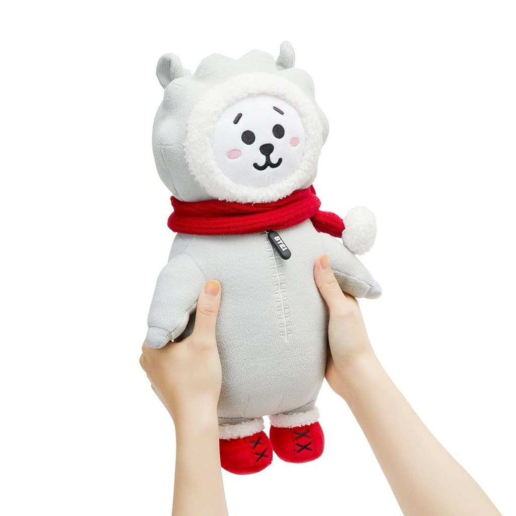 a white teddy bear wearing a red hat