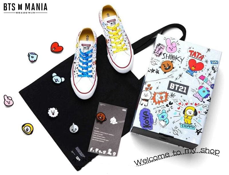 Bts Bt21 X Converse Official Shoes (3 Styles)