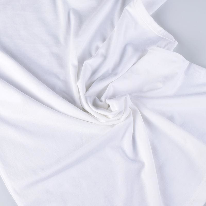 a person in a white blanket