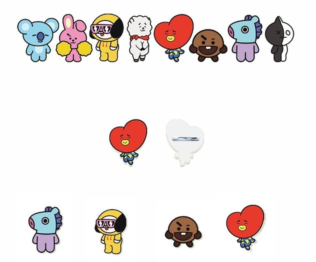 Bts Bt21 Theme Cute Brooch Badge