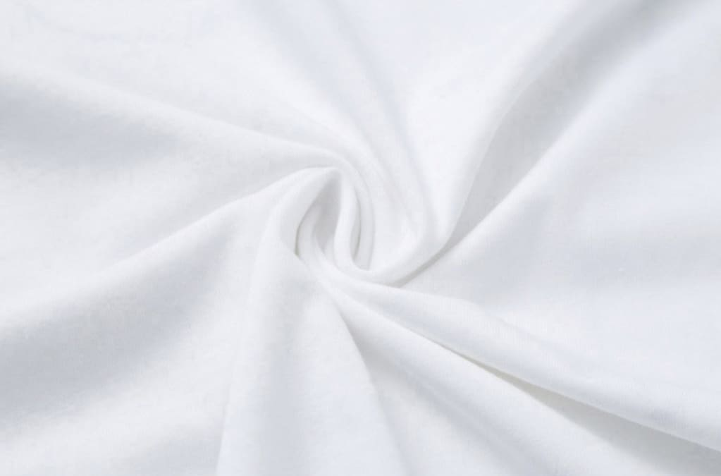 a close up of a blue and white shirt