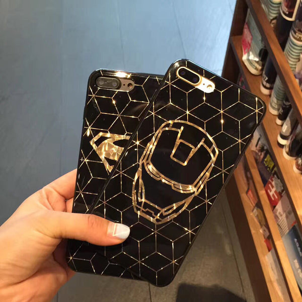 Superhero iPhone Cases (Black and Gold)