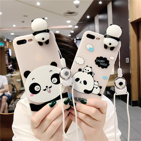 3D Panda iPhone Case