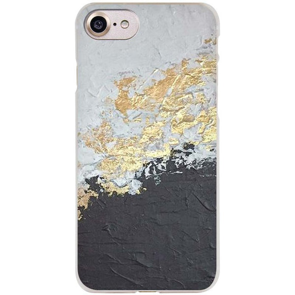 Unique iPhone Case (Marble, Gold, Black Design)