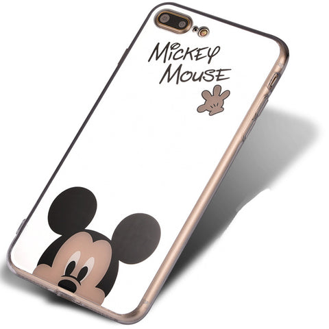 Cartoon Mickey/Minnie Mouse Mirror iPhone Cases