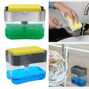 Soap Pump Dispenser with Sponge - BUY 1 TAKE 1 PROMO