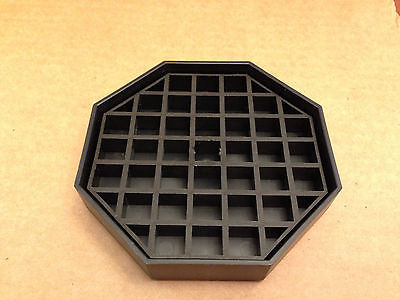 Black Plastic Octagon Drip Tray with Grate