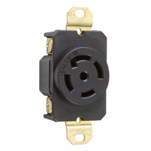 Grounding Locking Receptacle, NEMA L21-30