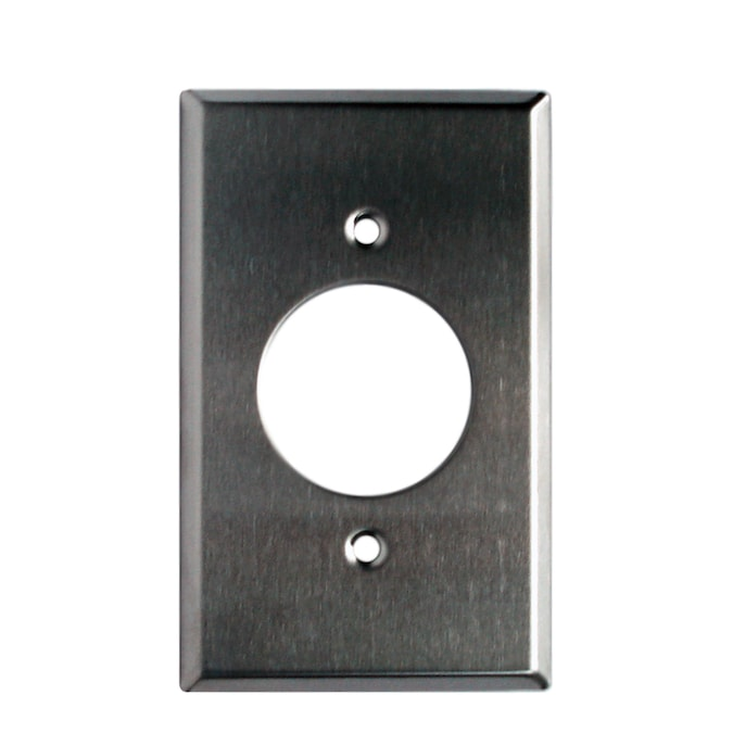 Stainless Steel 1-9/16 Inch, 1-Gang Outlet Wall Plate
