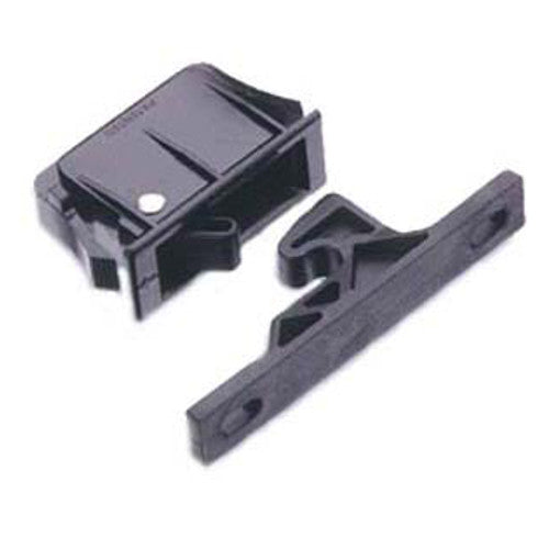 Southco C3-310 Push to Close Latch with Keeper, Snap-In Black