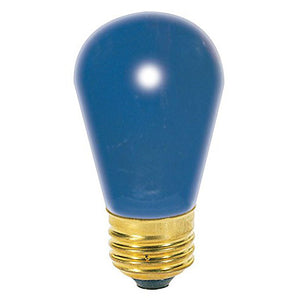 11S14-130-B Blue Light Bulb, 11 Watts, 0.08 Amps, 130 Volts