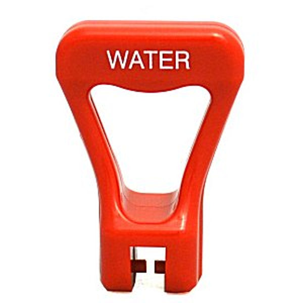 Handle - Red Water  Faucet Handle