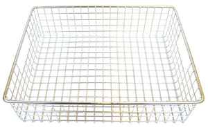 "Stainless Steel Square Mesh Basket - 14"" x 11"" x 4"""