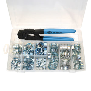 18500057 Service Kit (2-Ear Clamps, zinc plated with side jaw pincers)