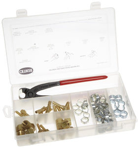 18500106 Welding Hose Repair Kit (2-Ear & Twin clamps, brass fittings & standard pincers)