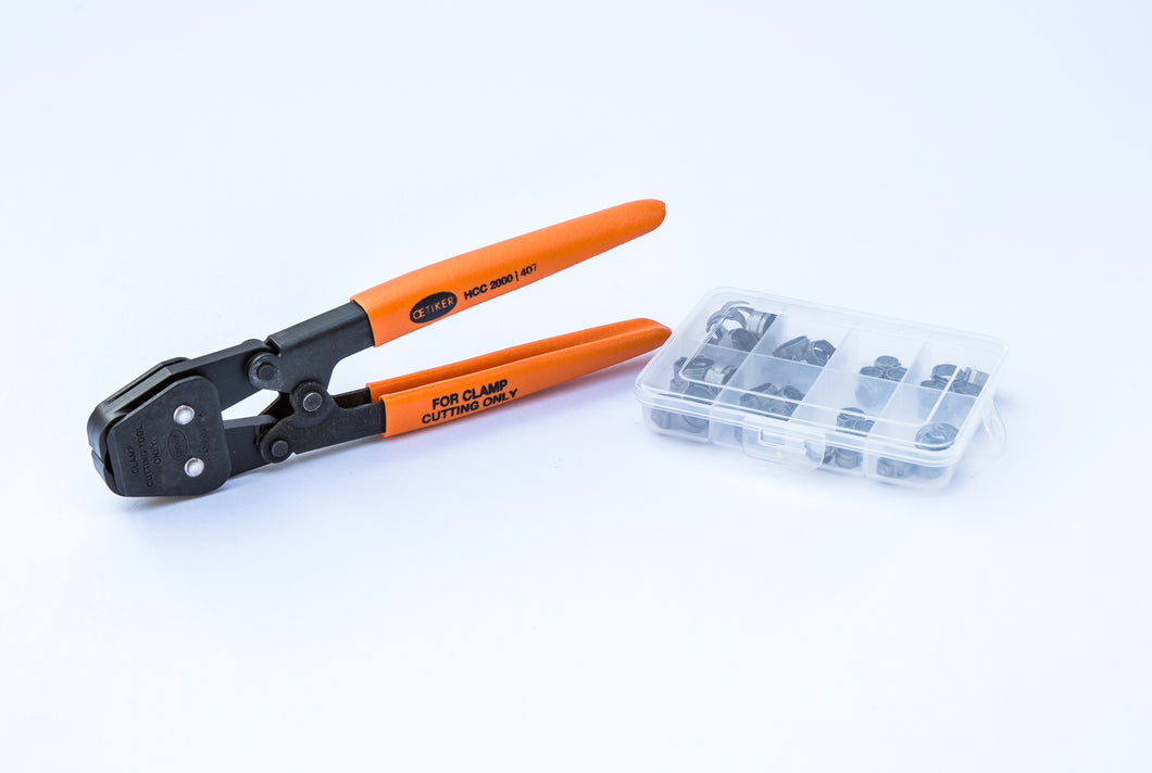40 Clamps - I.D. Clamp Range of 7 mm to 13.3 mm (with Hand Clamp Cutter )