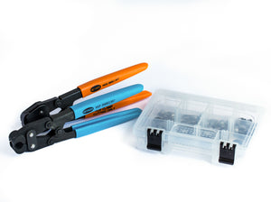 60 Clamps - I.D. Range of 7 mm to 15.7 mm (with Compound Side Jaw Pincer & Clamp Cutter)