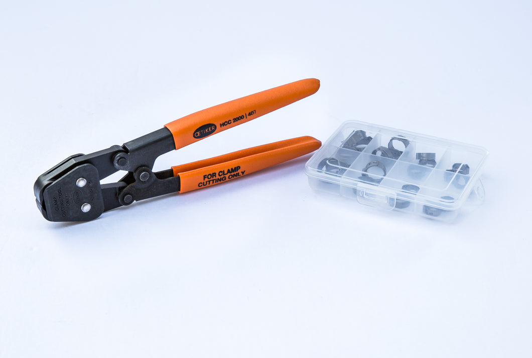 20 Clamps - I.D. Clamp Range of 9.5 mm to 15.7 mm (with Hand Clamp Cutter )