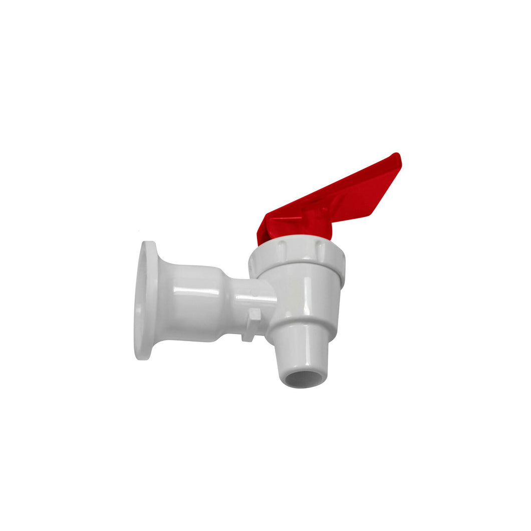White Body Red Handle Plastic Faucet