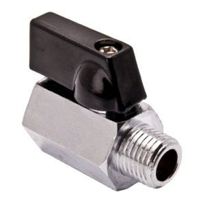1/4 Inch Mini Nickel Plated Brass Ball Valve