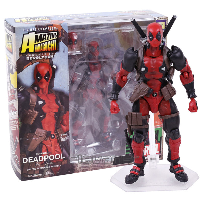 SCI-FI Revoltech Series 001 Deadpool Action Figure Collectible Toy