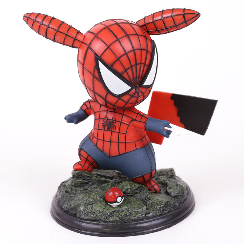 Pikachu Cosplay Spiderman Collectible Model Toy