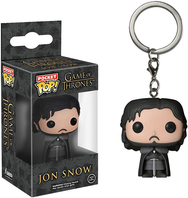 Official Funko pop Keychain Game of Thrones - Jon Snow Action Figure Key Chain Collectible Model Toy with Original Box - WeRToyz