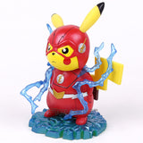 Pikachu Cosplay The Flash Cartoon Funny Creative Design Collectible Model Toy |  Action Figures | WeRToyz