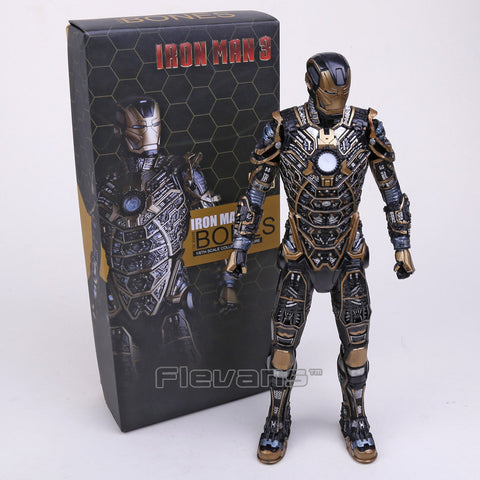 Crazy Toys Iron Man 3 Mark XLI BONES MK41 Collectible Figure Model Toy