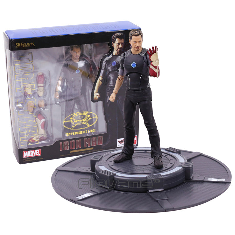 SHFiguarts Iron Man Tony Stark with Tony's Powerd Stage Action Figure Collectible Toy