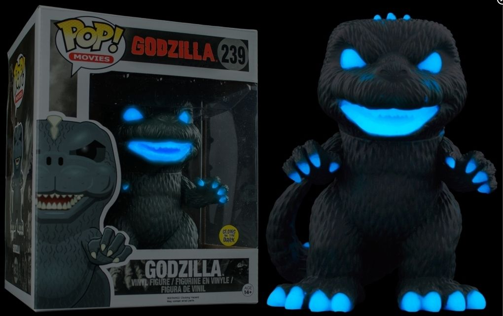 Exclusive 6'' Funko Pop Glow in the Dark Official Godzilla - Atomic Breath Godzilla CollectibleModel Toy |  Vinyl Figure | WeRToyz