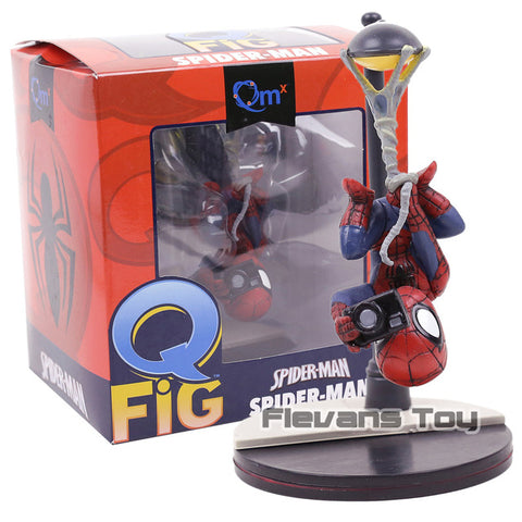 QMX Spider-Man Q-Fig Action Figure Marvel Comics Super Heroes Toy Car Decoration Doll |   | WeRToyz