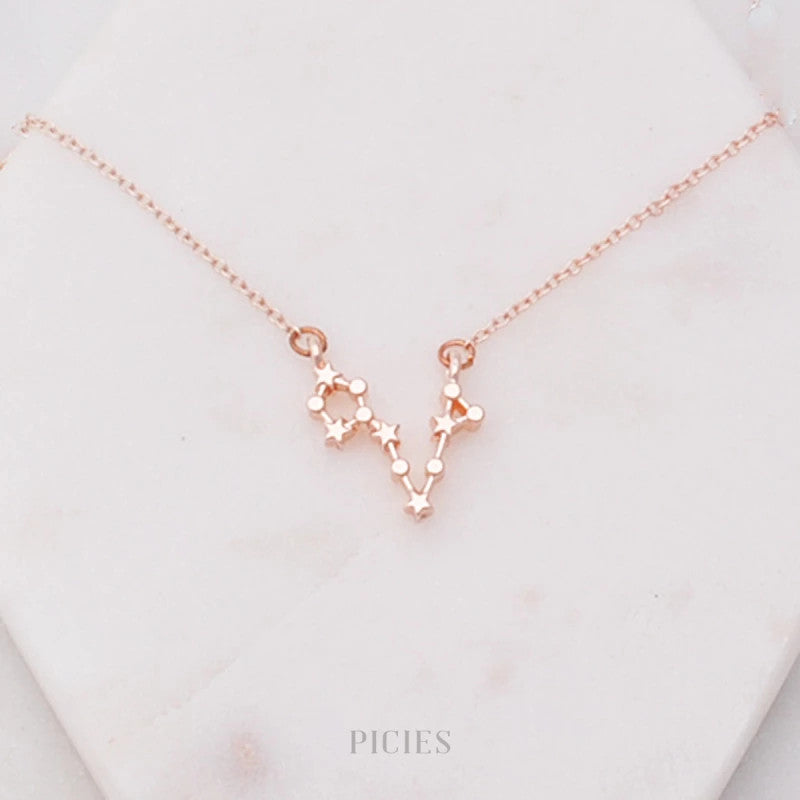 PERSONALISED CONSTELLATION STAR NECKLACE IN ROSE GOLD