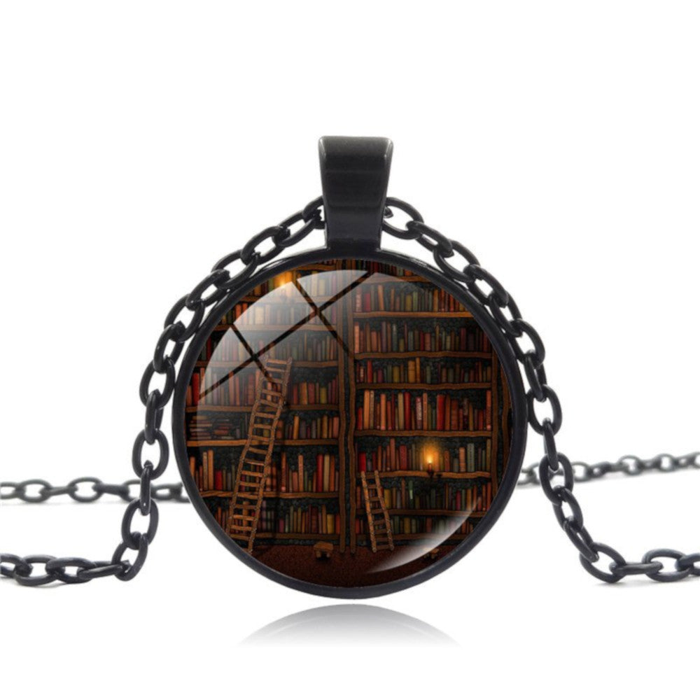 Bookshelf Necklace -Free Shipping Worldwide
