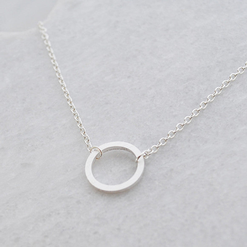 crystal cubic micro circle karma pendant zirconia chain eternity necklace simple shaped item round women pave