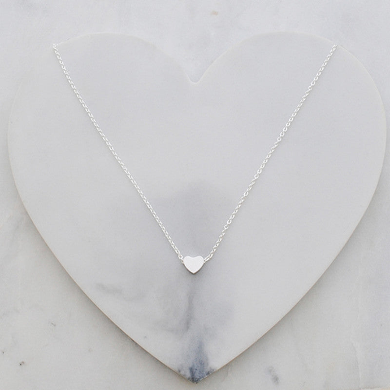 Buen amor - Silver heart necklace